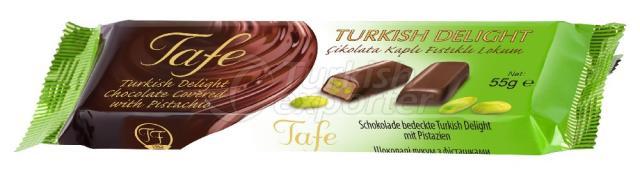 Pistache 801 com cobertura de chocolate