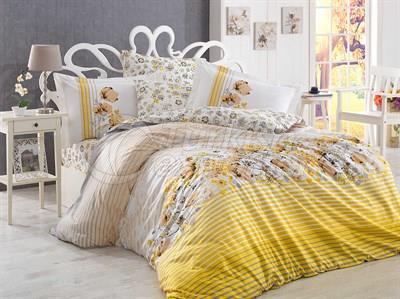 Fiesta Yellow - Poplin Single Bed Linen Set (8698499122000)