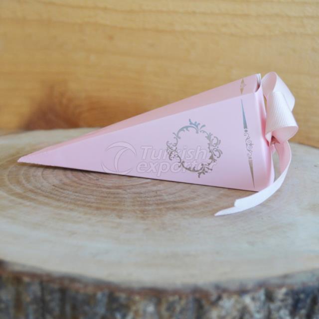 Powder Pink Ribbed Cone