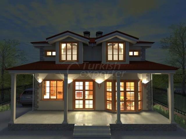 villa en acier légère, maison en acier