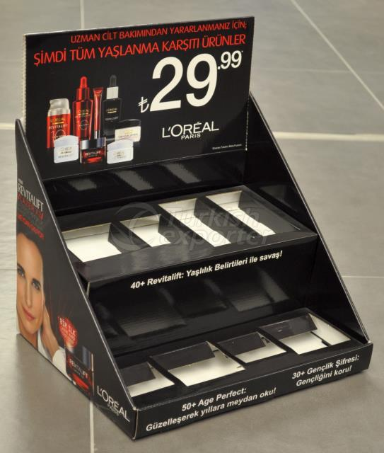 Cosmetics counter display