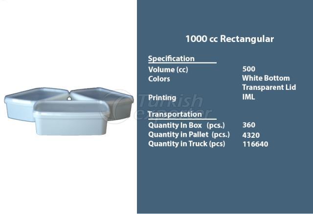 Rectangular Plastic Container 1000 cc