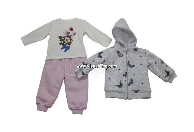 Set de 3 piezas de mariposa para bebé