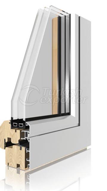 Wooden Aluminum Window and Door Systems -Coplanar