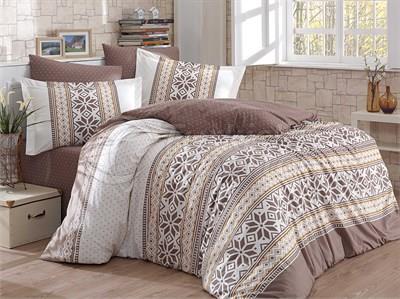Carla Brown- Poplin Single Bed Linen Set (8698499116733)