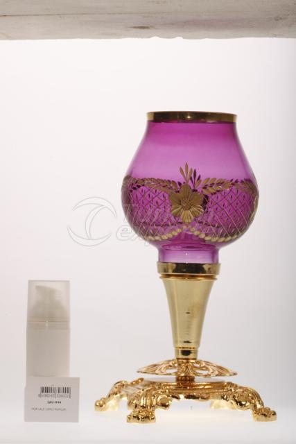 Purple Candle Holder 1AU-044