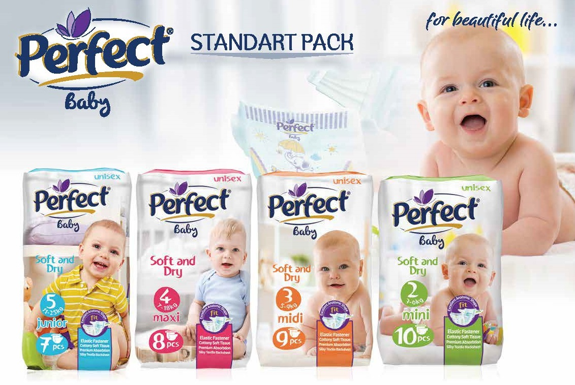 Perfect Baby Standard-Pack Baby Diaper