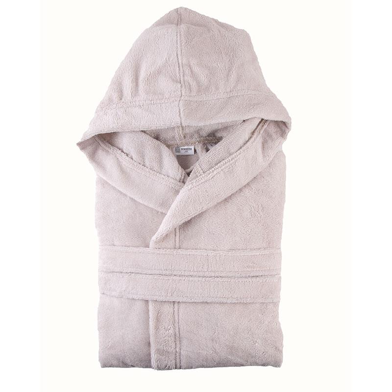 Hooded Model Bathrobe