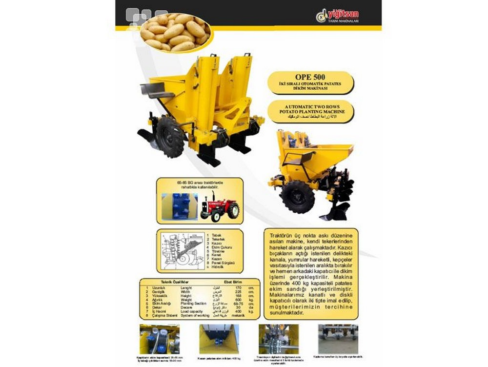 Dbl. Rowf. Automatic Potato Planting Mac.