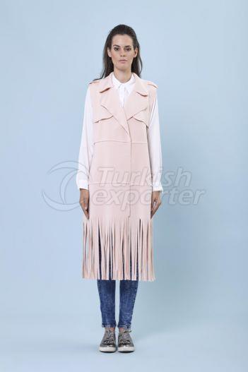 Fringed Vest 1121 Powder Color