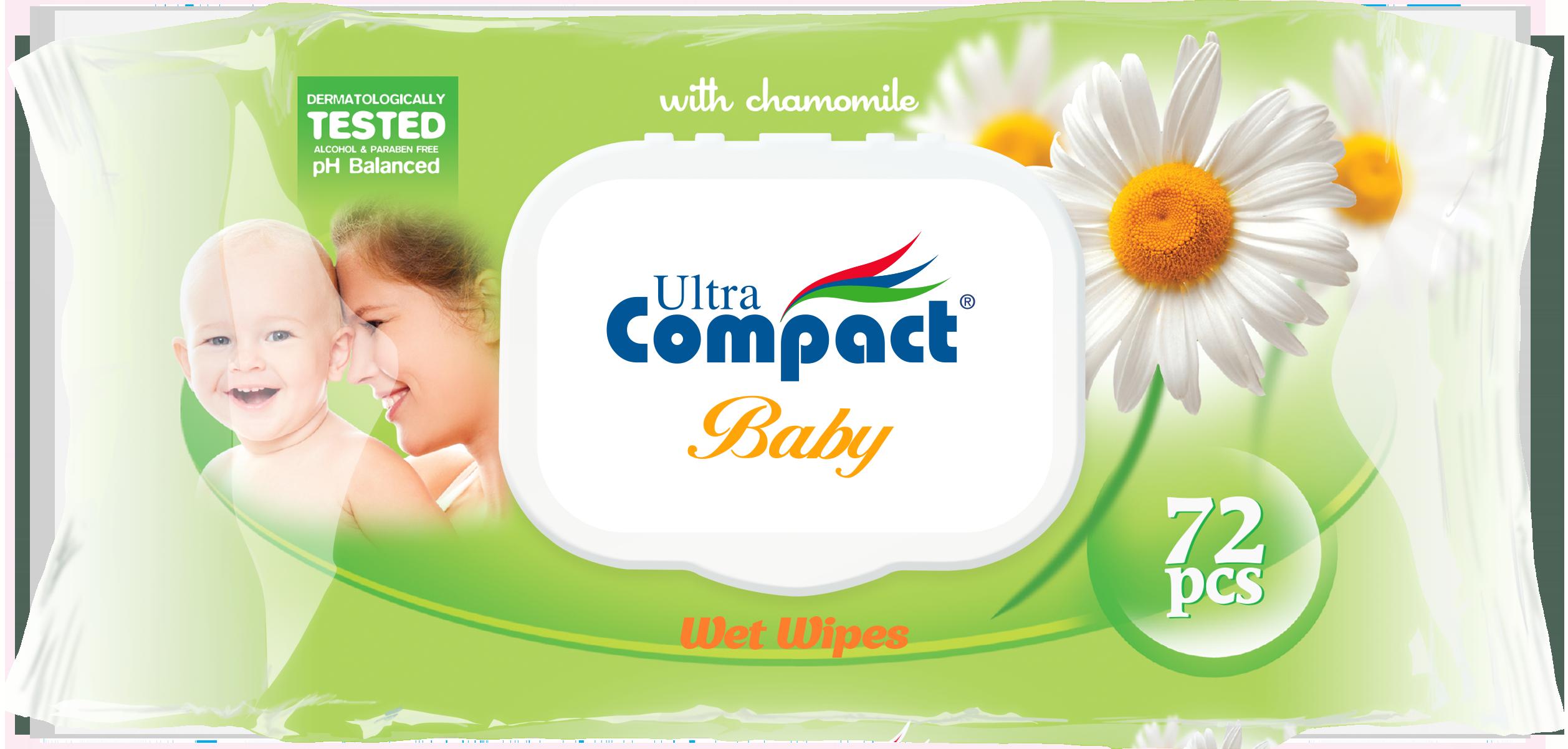 BABY WET WIPES 72 PCS
