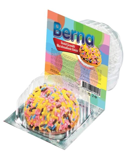 Berna Colored Granule Coated Marshmallow Biscuit