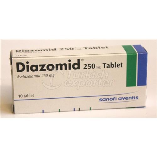 DIAZOMID 250 MG 10 TABLETS