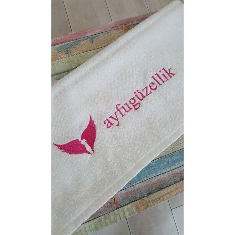 50 X 90 CM CUSTOMIZABLE EMBROIDERIED HAIRDRESSER TOWEL