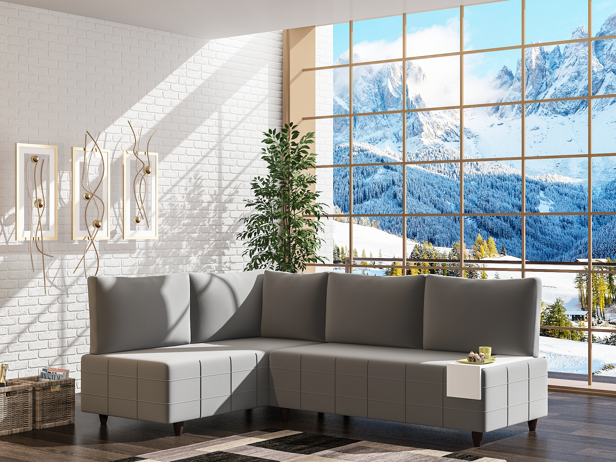 Asude Corner Sofa Set