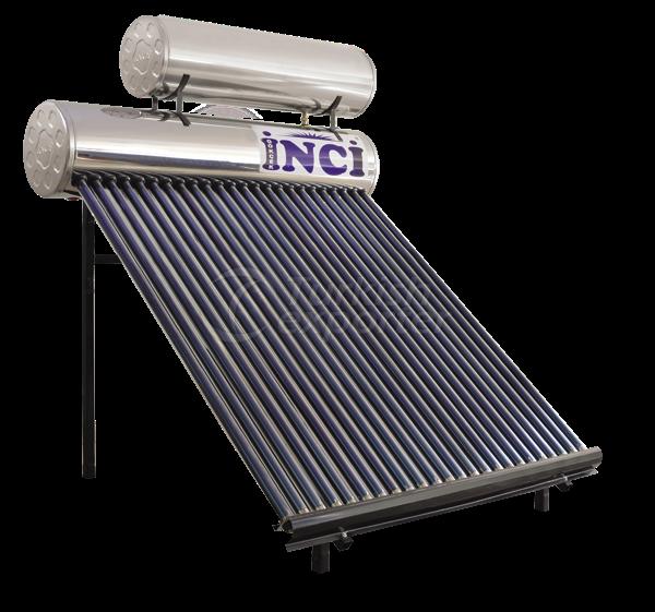24 Vacuum Tubes 150 LT Chrome Solar Water Heater