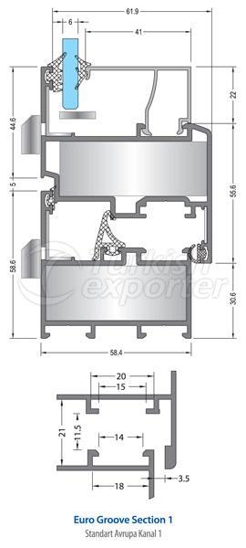 58C Aluminum Doors Windows