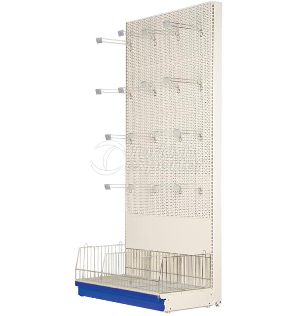 Wall Shelving Bay with Perfo-Back