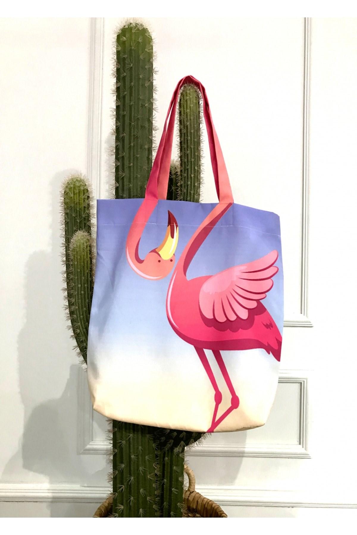 flamingo print beach bag. wholesale beach bag. customized beach bag for women