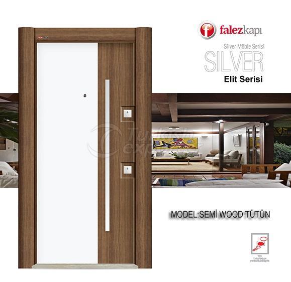 الصلب الباب شبه الخشب توتون