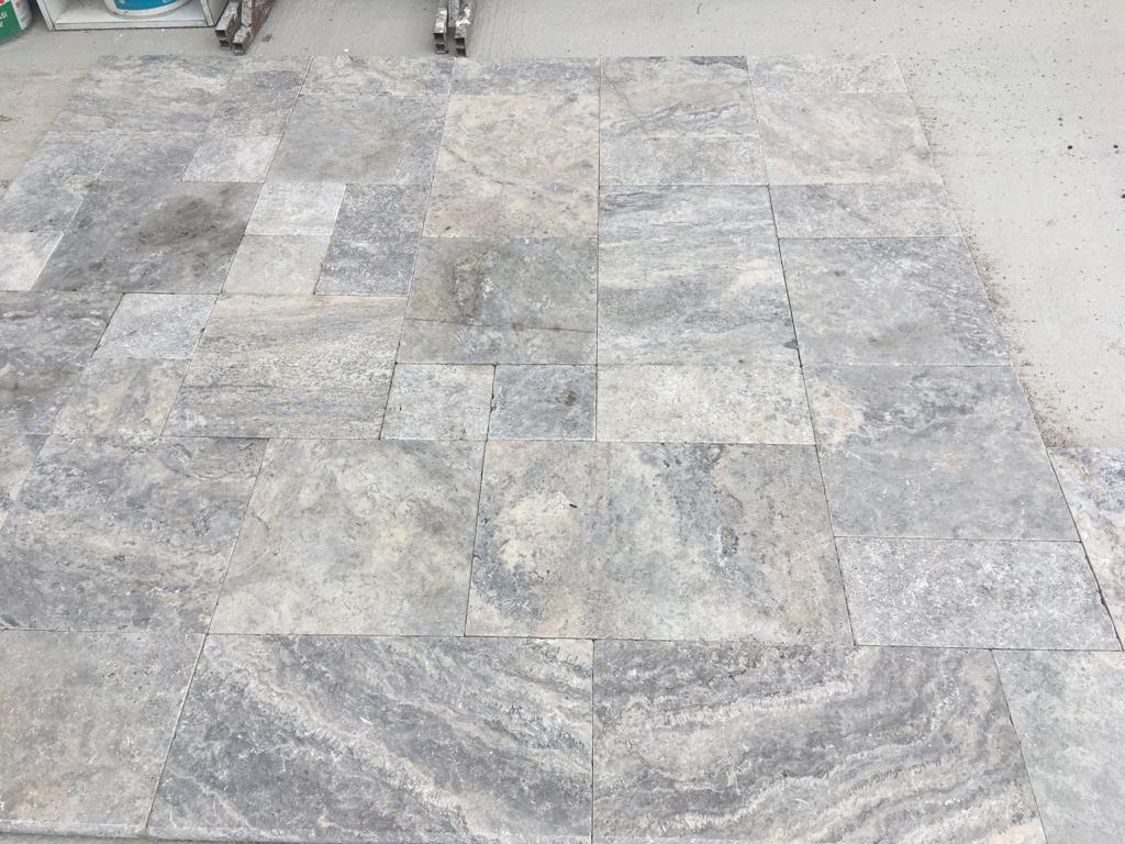 MIX PAVERS SET TRAVERTINE