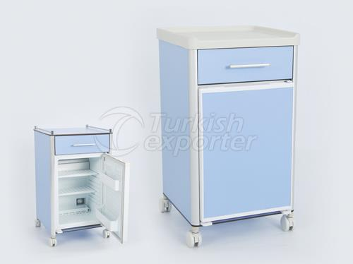 Bed Side Cabinet Compact With Refrigerator