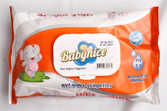 Baby Nice 72 Pcs Wet Wipes