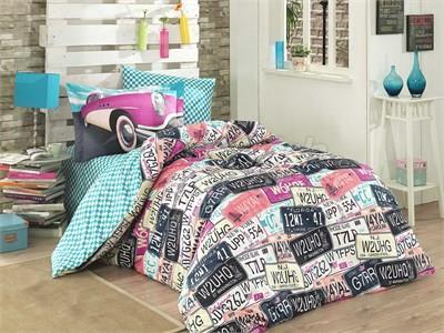 كلاسيك بينك - طقم سرير مفرد من بوبلين (8698499118126)