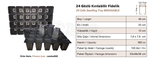 24 Cells Seeding Tray Breakable