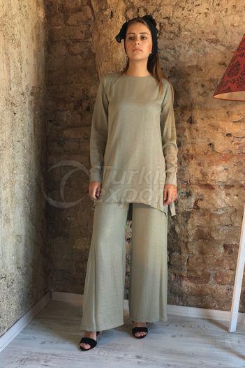 Silvery Blouse Trouser  2301 Khaki