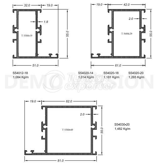 أنظمة الأبواب والنوافذS-55