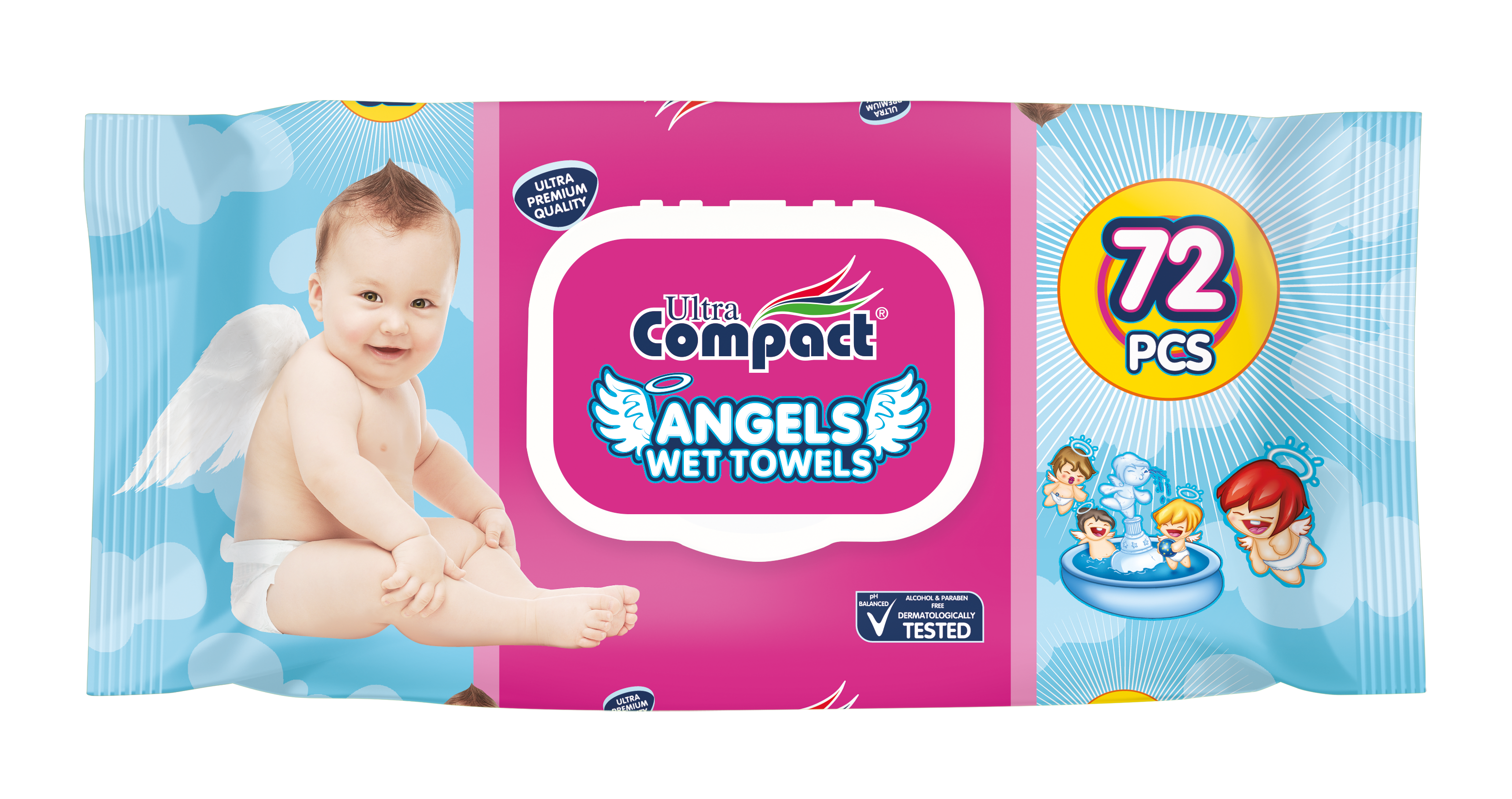 ANGELS WET TOWELS 72 PCS
