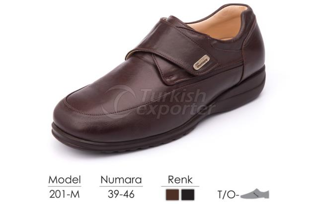 Zapatos para hombres diabéticos y ortopédicos 201M