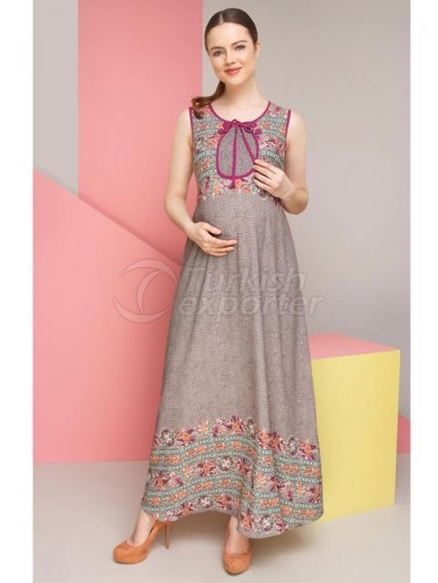 Pregnant Curly Rose Jile Dress