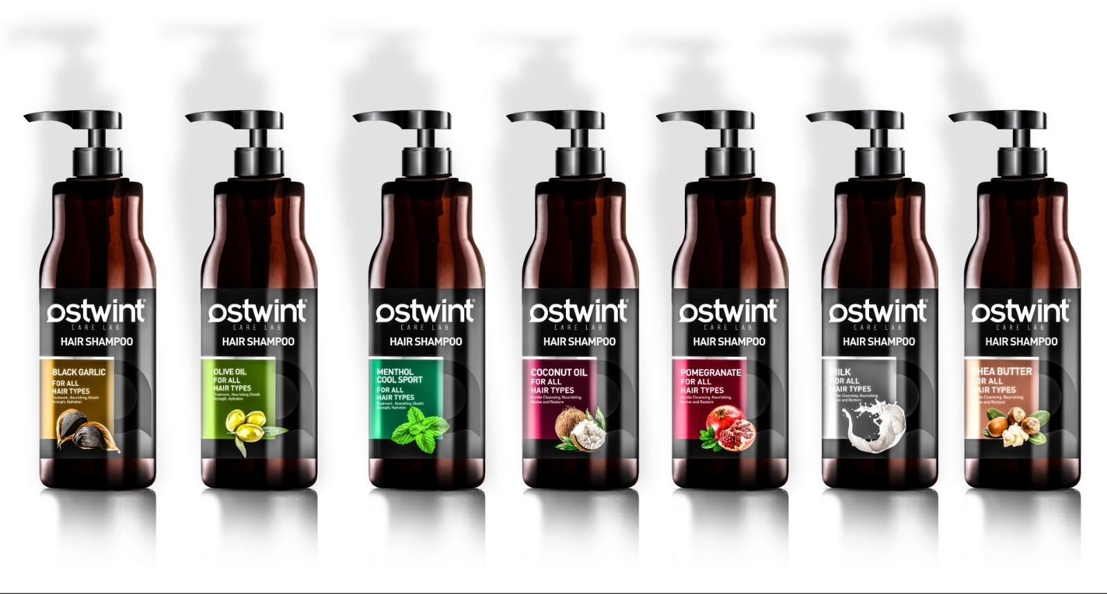 OSTWINT مجموعة شامبو الشعر الملصق الخاص