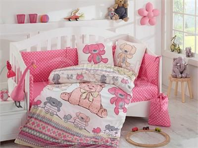 Tombik Pink -Baby Bed Linen Set (8698499125117)