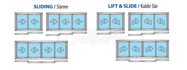 Sistemas deslizantes de aluminio 45T