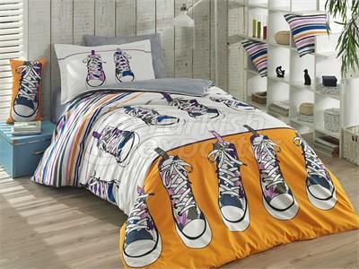 Layla Yellow -Poplin Single Bed Linen Set (8698499117020)