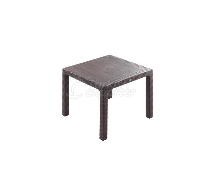 Classi Rattan 90x90 Table Brown