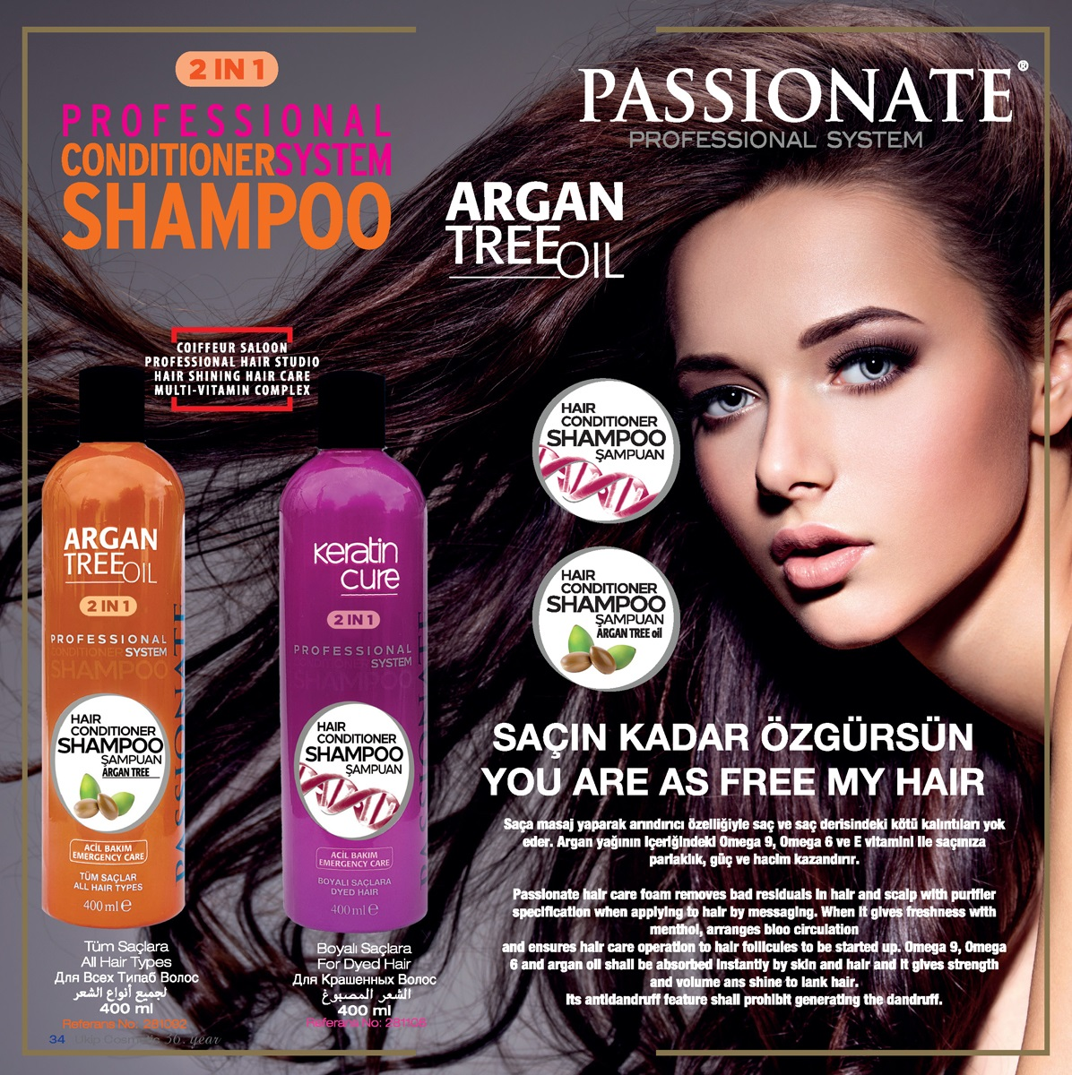 Passionate Professional System 2 in 1 Conditioner Shampoo
