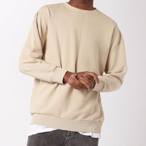 Crewneck Sweatshirt with Stitch