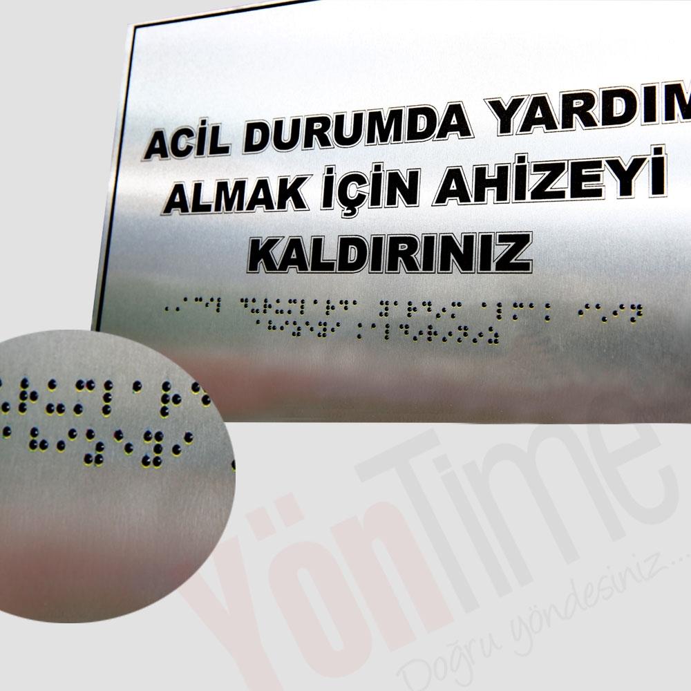 Braille Alfabeli Yönlendirme Levhası