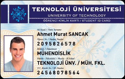 Cartão de identificação do estudante