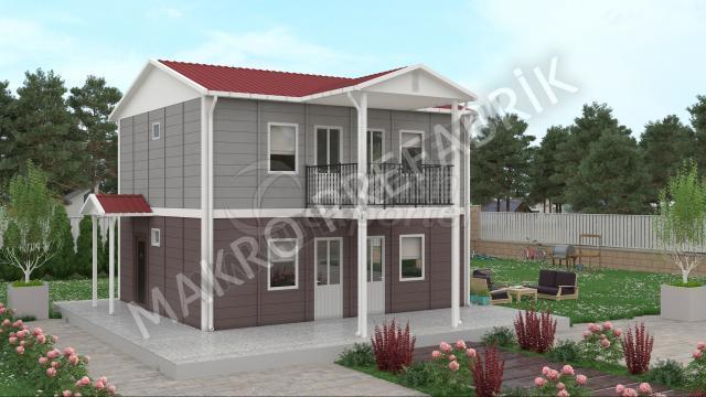 بيت جاهز بطابقين 114 m²