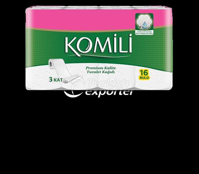 Komili Premium Toilet Paper 16 Rollos