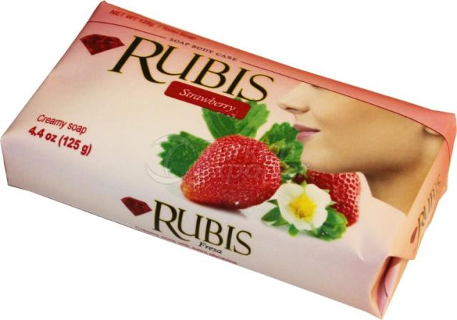 Paper Wrapped Soaps Rubis Strawberry 125 gr
