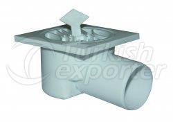 Ubicación de drenaje de plástico