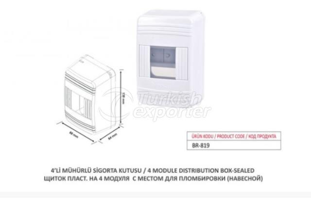 4 Module Distribution Box-Sealed