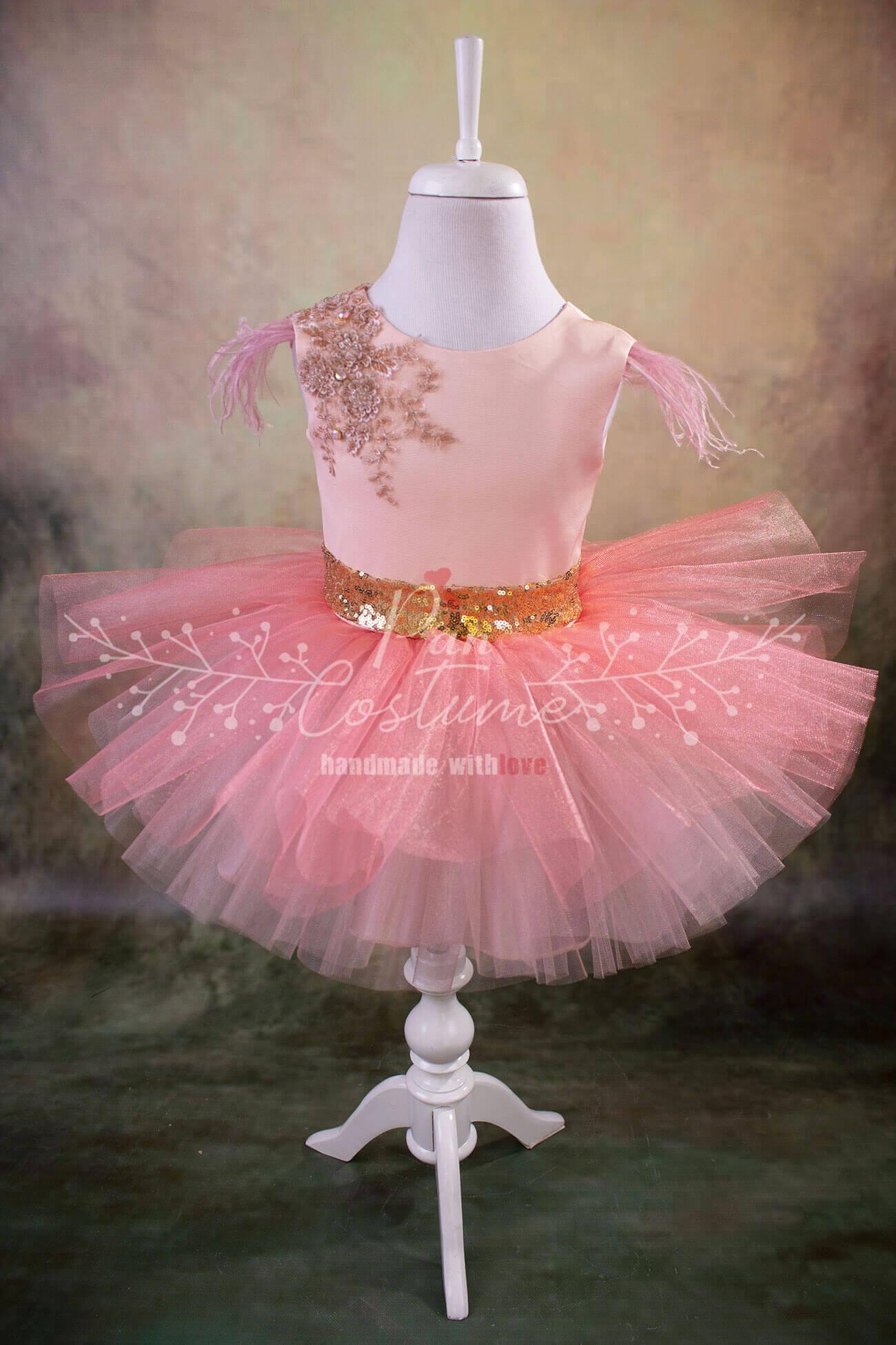 Peach Fluffy Dress