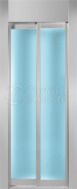 Porta de vidro emoldurada